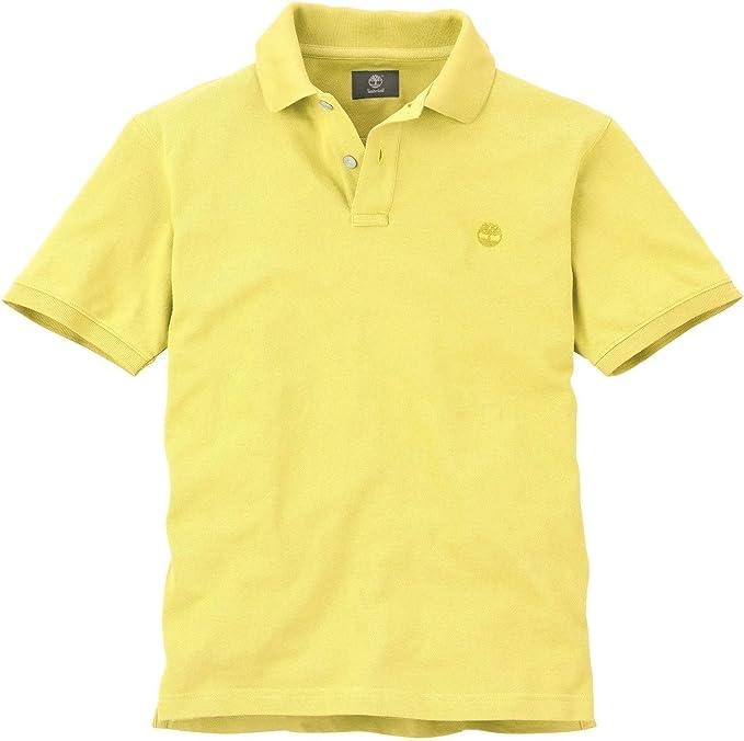 Timberland Men's Short Sleeve Pique Polo Shirt