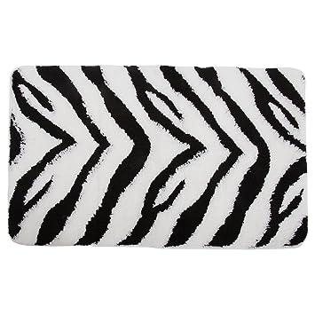 Badematte Im Zebra Design Siehe Beschreibung Schwarz Weiss