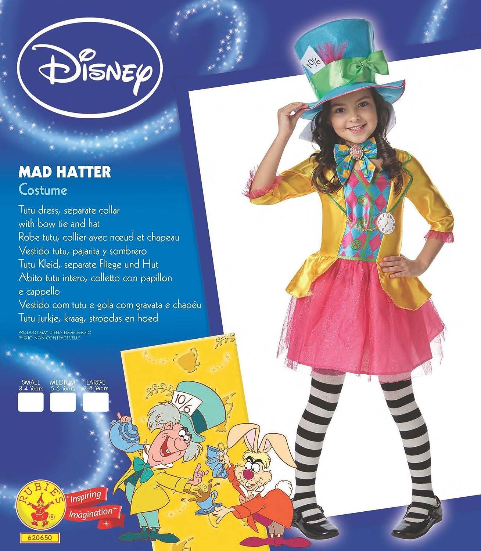 Rubiess – Disfraz de personaje Sombrerero Loco, de Alicia en el país de las maravillas, diseño oficial de Disney, para 13 – 14 años: Amazon.es: Juguetes y juegos