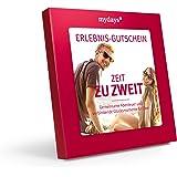 mydays Erlebnis-Gutschein ZEIT ZU ZWEIT | 2 Personen | 80 Erlebnisse an über 420 Standorte | Geschenkidee für Paare