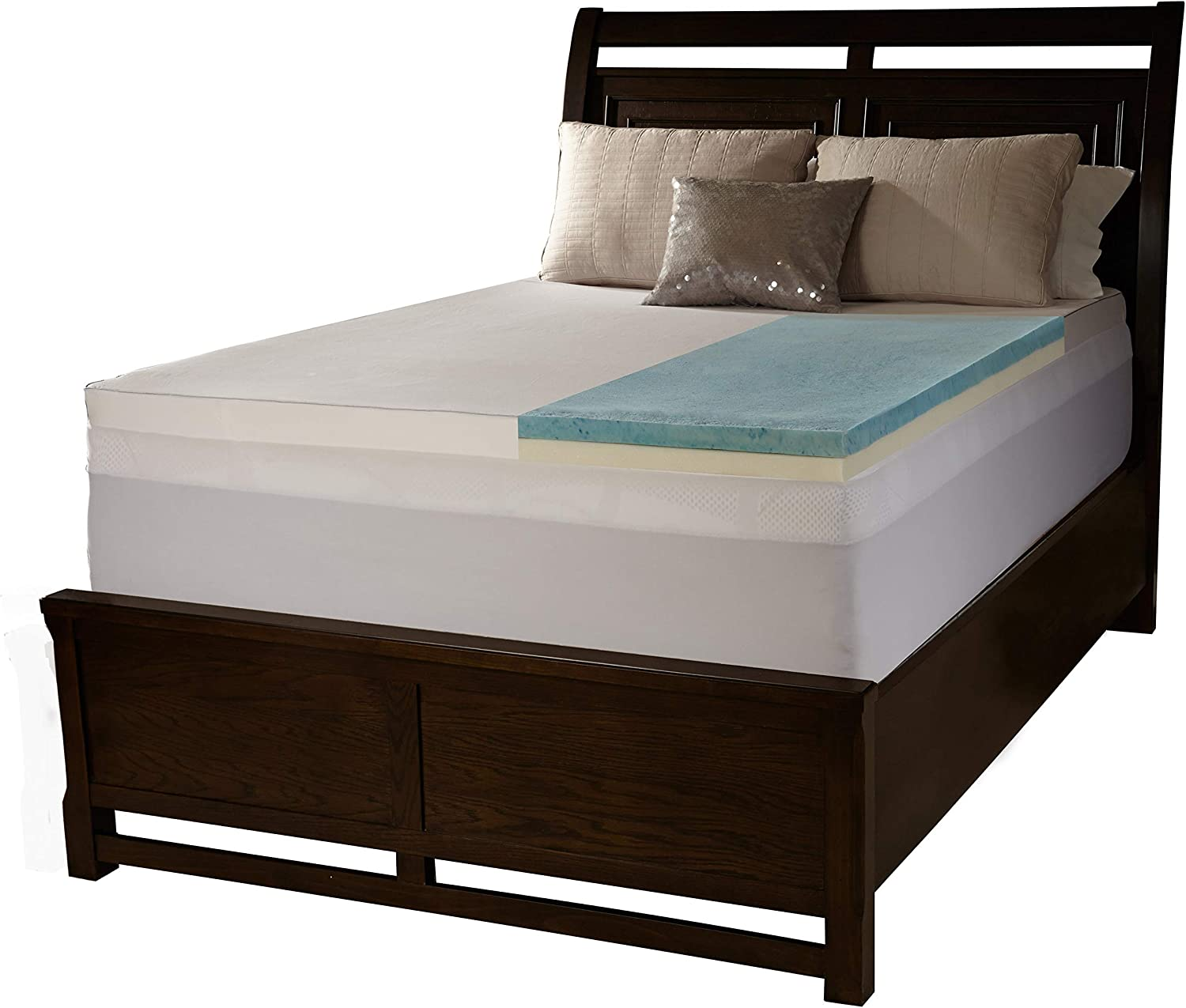 Simmons Beautyrest Comforpedic Loft from Beautyrest 3-inch Flat Select Gel Memory Foam Mattress Topper with Cover Full