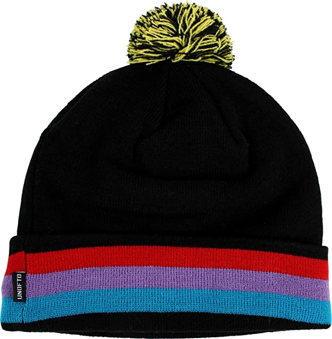 1a4d5bd95 Amazon.com: Undefeated Mens Bad Sports Pom Beanie, Black, One Size ...