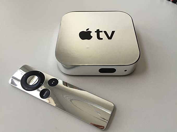 Amazon com: Chrome Apple TV Skin (Apple Tv NOT Included