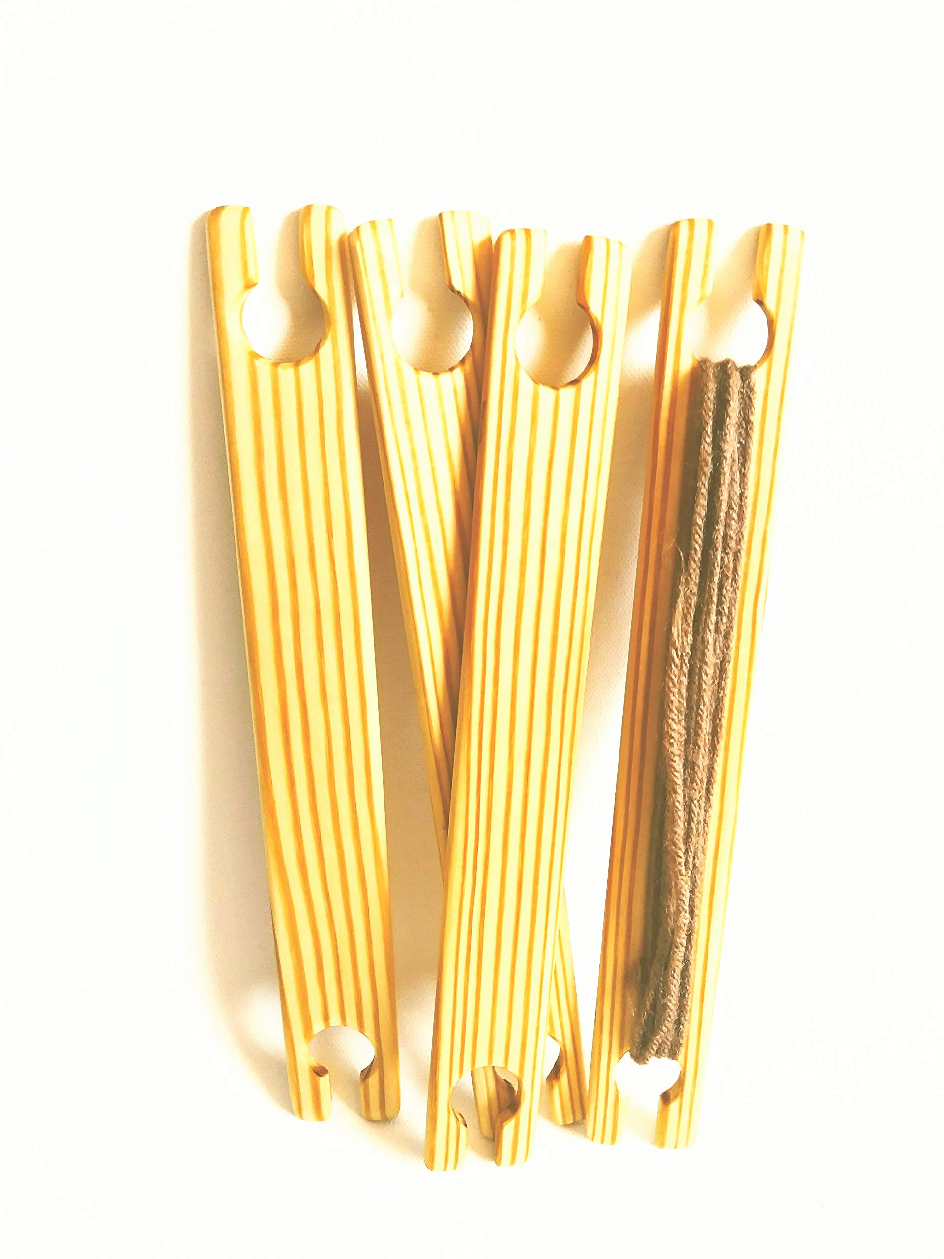 4 Pack 24 inch x 1.5 inch wide weaving stick shuttles