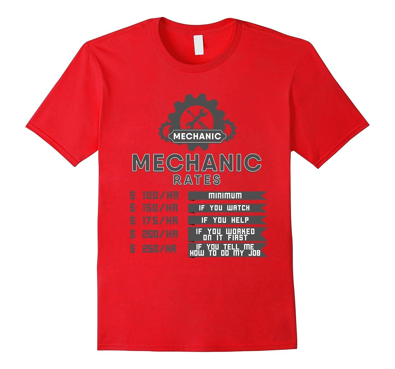 Auto Mechanic Hourly Rate T-Shirt-FL