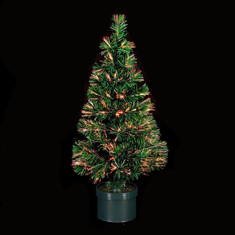 decoracin de navidad rbol de navidad artificial luminoso de fibra ptica con macetero incluido