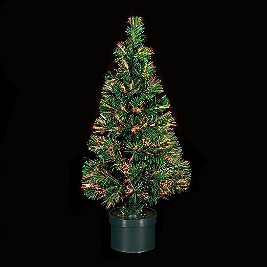 decoracin de navidad rbol de navidad artificial luminoso de fibra ptica con macetero incluido las luces cambian de color 150 cm de alto amazones
