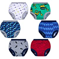 AGUDAN Baby Training Pants Potty 6-Pack Padded Soft Pure Cotton Toddler Underwear for Boys and Girls, 2T