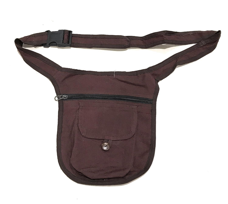 La Conchiglia - Tasca Laterale Con Cintura - Borsa Marsupio Uomo Donna - Tinta Unita (Blu) BS-MNP12BL