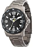 Timberland Men's Quartz Watch with Black Dial Analogue Display and Grey Stainless Steel Strap TBL.13613JSUB/02M