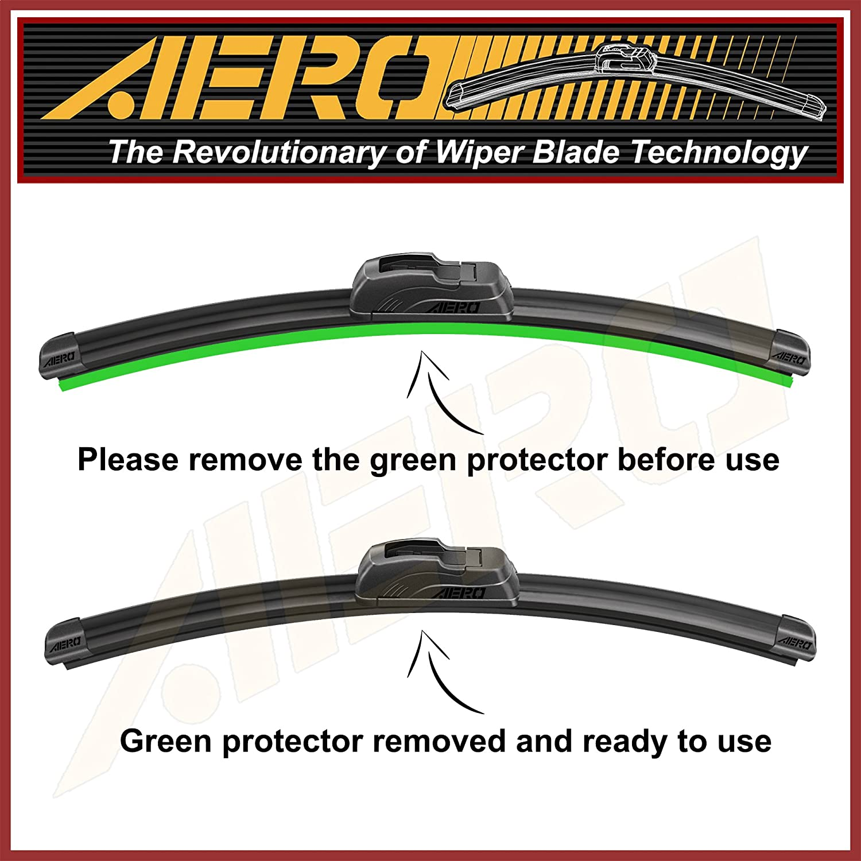 21 AERO Premium All-Season Windshield Wiper Blades Set of 2 OEM QUALITY 22