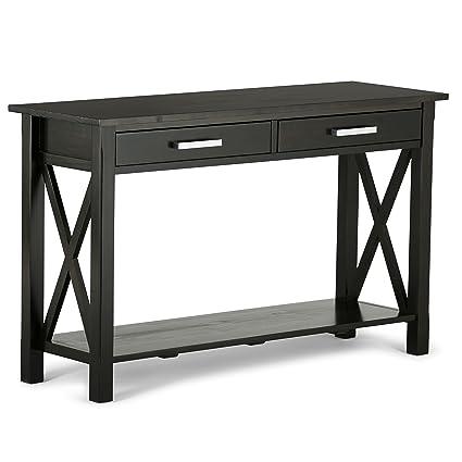 Amazon.com: Simpli Home 3AXCRGL003 Kitchener Solid Wood 47 inch wide ...