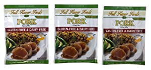 Full Flavor Foods Pork Gravy Mix - Gluten Free, MSG Free, Non Dairy, Nut Free - 3 Packages, 1.06 oz Each