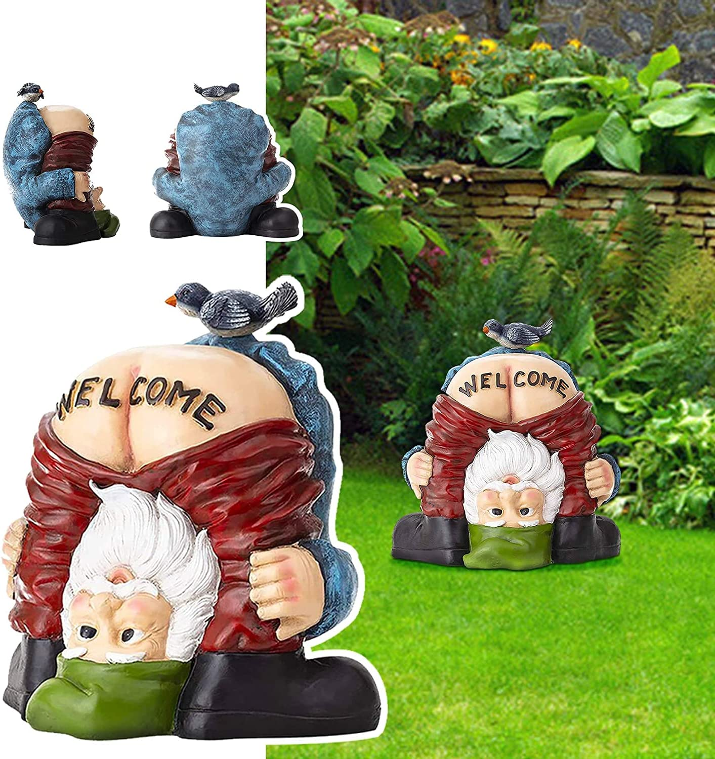 NARFIRE Family Decorations Dwarves Gnomes Resin Decorations Garden Crafts Statues Funny Welcome Decorations