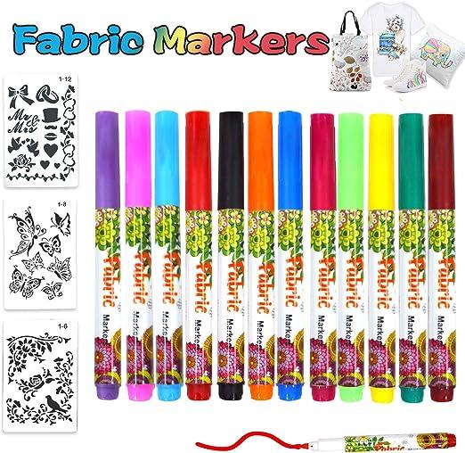 Rotuladores Para Tela Permanentes 12 Colores Rotuladores Textiles ...