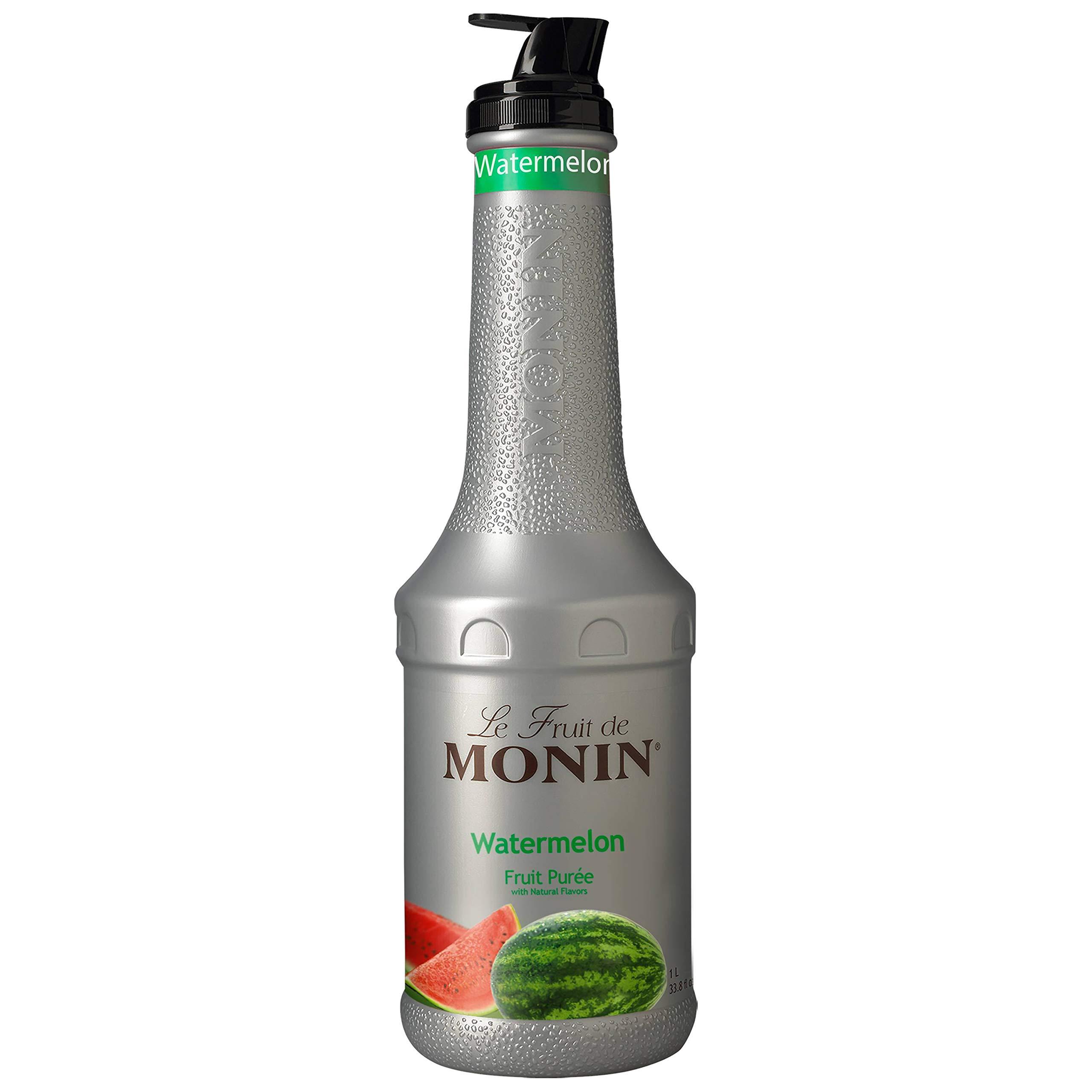 Monin Watermelon Puree, 1 Liter -- 4 per case.
