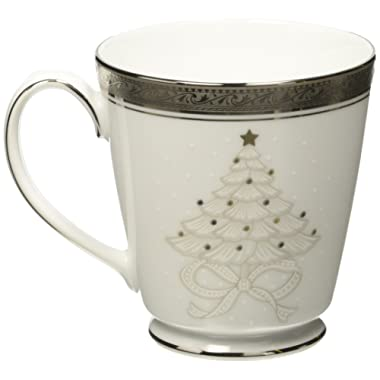 Noritake Crestwood Platinum Holiday Accent Mugs, Set of 4
