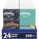 Kleenex On-The-Go Packs Facial Tissues, White, 72 Count, Pack of 10
