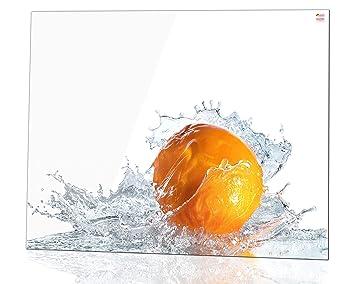 Kuchenruckwand Glas Spritzschutz 100 X 60 Cm Orange Ultraclear
