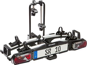 Bullwing Sr10 Auto Fahrradträger Heckträger Für 2 Fahrräder Mit Anhängerkupplung Fahrradheckträger Kupplungsträger Fahrradhalter Kupplung Klappbar Großer Abklappwinkel Auto