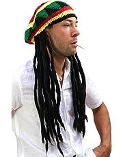 WIG ME UP ® - Copricapo con dreadlocks (Bob Marley, Rastafari)
