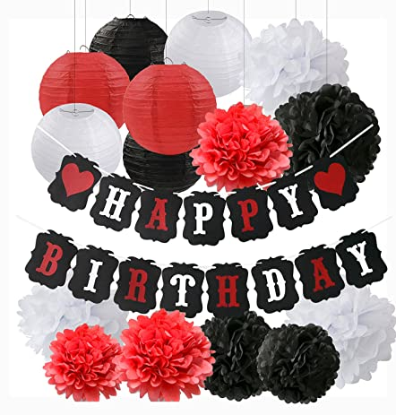 Amazoncom White Red Black Birthday Party Decorations Minnie Mouse