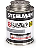 Steelman Chemical Vulcanizing Cement for Rubber Tire and Tube Repairs - 8oz. Fast-Drying, Contains Vulcanization…