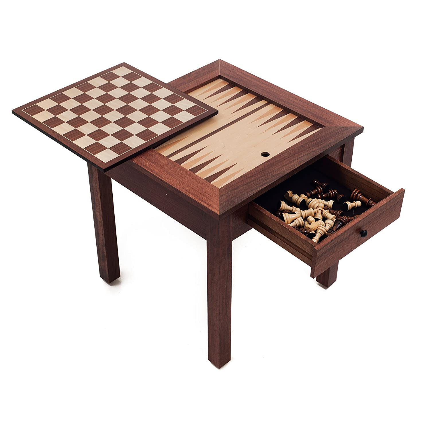 Merveilleux Amazon.com: Trademark Games Wood 3 In 1 Chess Backgammon Table: Toys U0026 Games