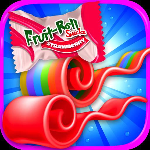 Fruit Roll Candy Maker - School Snacks Simulator & Kids Dessert Food Games FREE (Kid Candy Maker)
