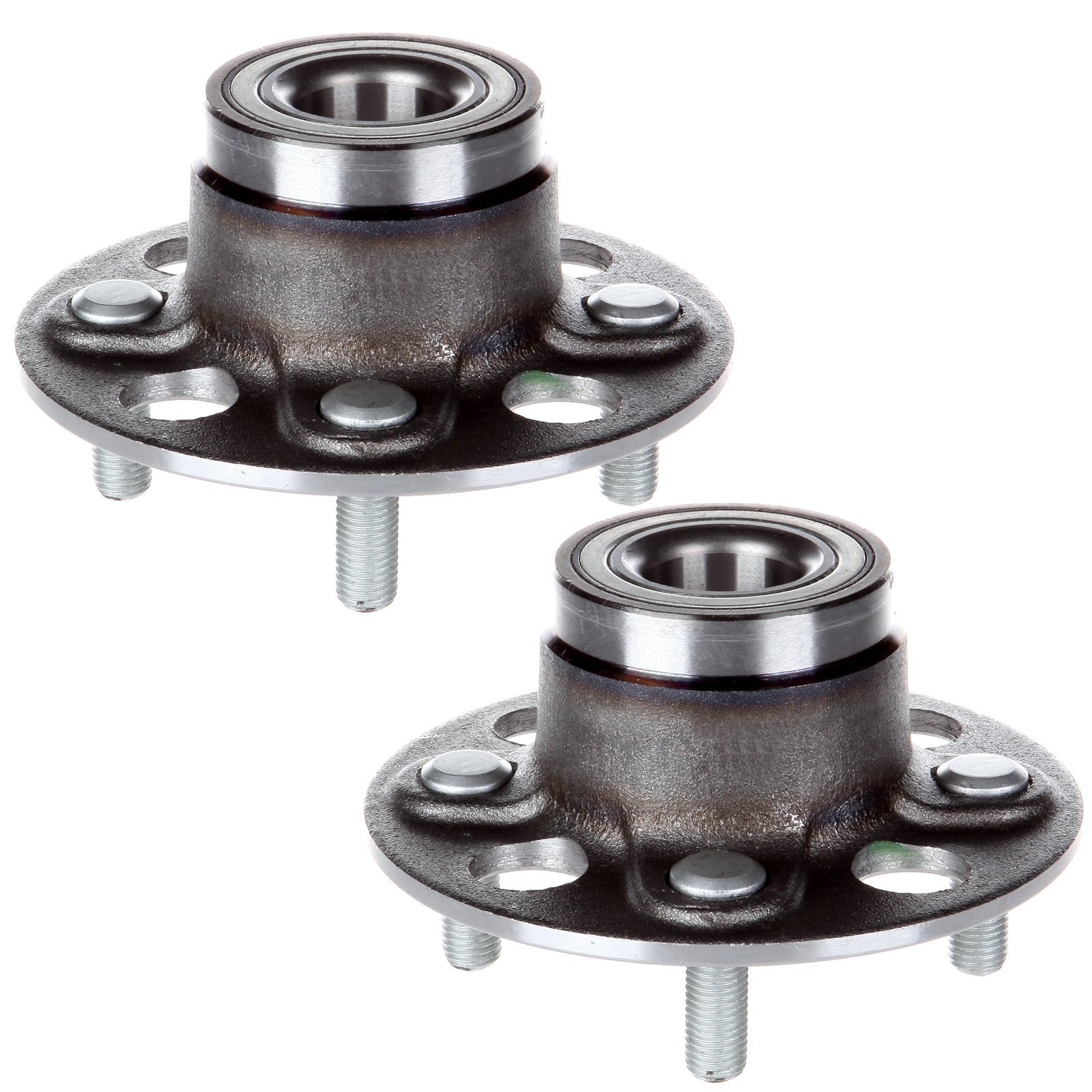 ECCPP Pair of 2 New Complete Rear Wheel Hub Bearing Assembly 4 Lugs for 2001-2005 Honda Civic 512174x2