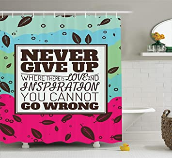 Quotes Decor Collection Never Give Up Where There Is Love And