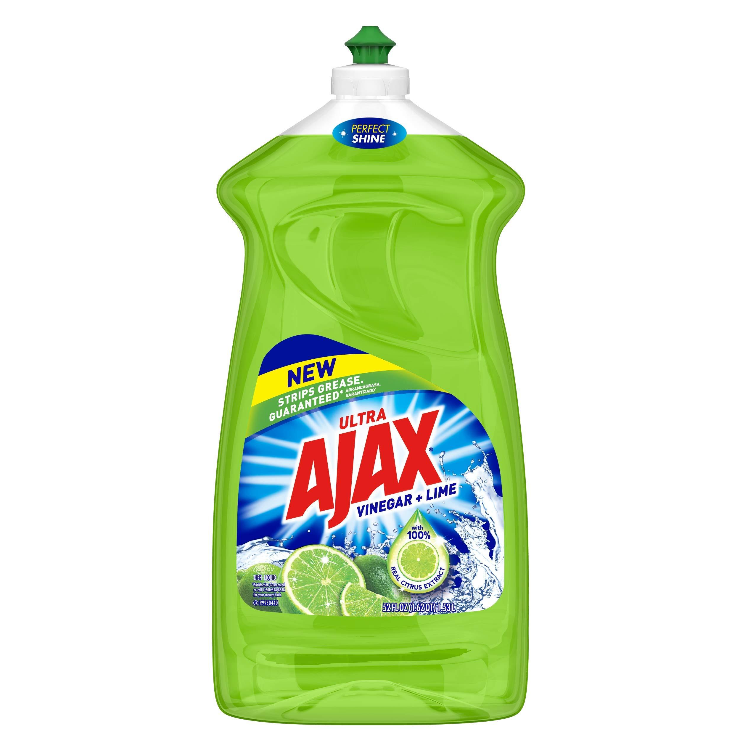 Ajax Ultra Liquid Dish Soap, Vinegar and Lime - 52 Fluid Ounce