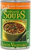 Amy's Organic Lentil Vegetable Low Salt Soup, 14.5-Ounce Cans (Pack of 12)