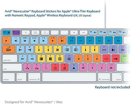 Avid NewsCutter teclado para ordenador portátil editar apto ...