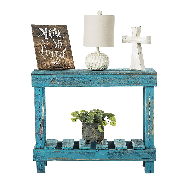 Amazon.com: del Hutson Designs- Rustic Barnwood Sofa Table, USA ...