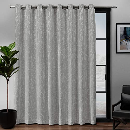 Exclusive Home Curtains EH8309-02 1-84G Forest Hill Woven Blackout Grommet Top Single Curtain Panel