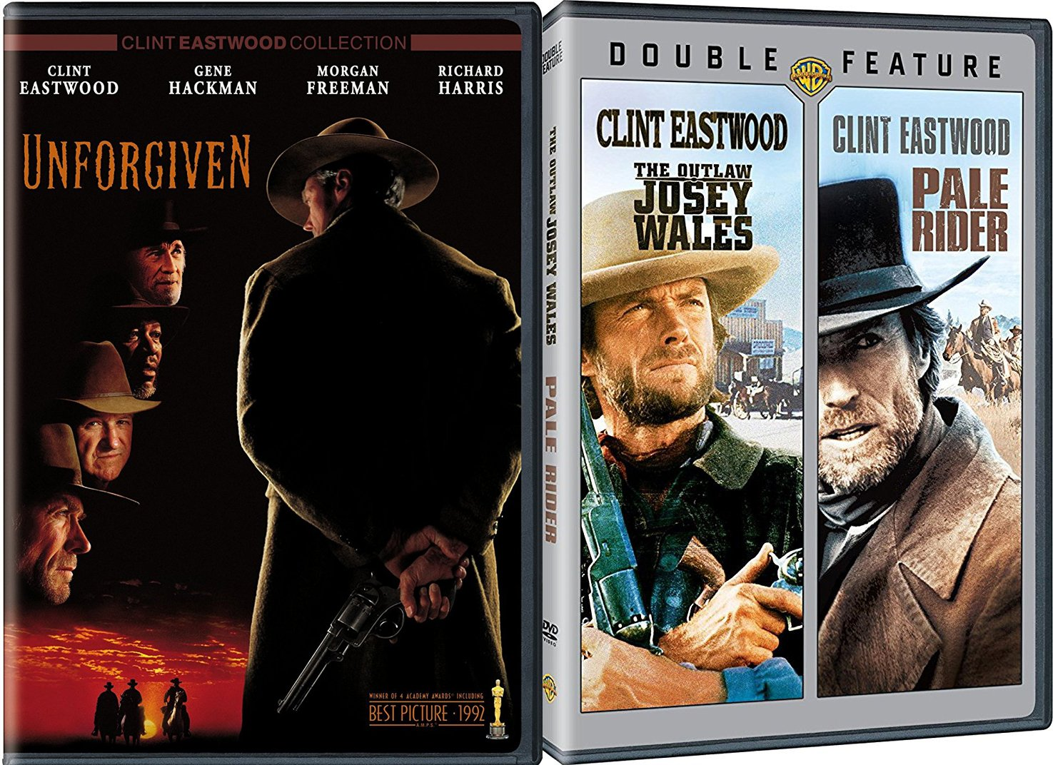 Unforgiven + The Outlaw Josey Wales, Pale Rider Clint Eastwood ...
