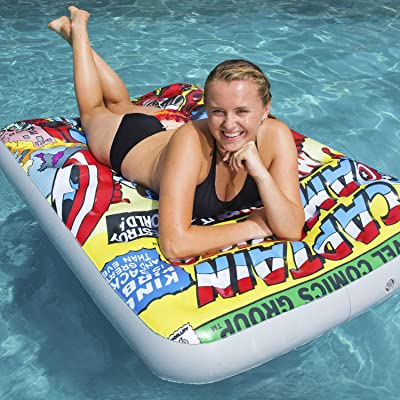"60"" Marvel Captain America Inflatable Swimming Pool Float Lounger: Sports & Outdoors"