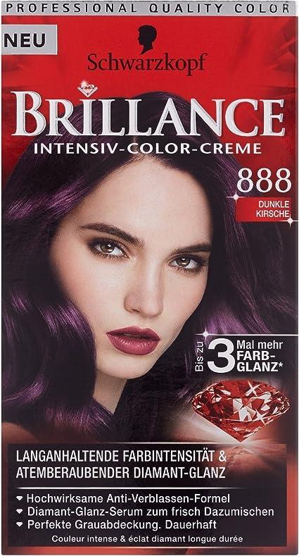 Schwarzkopf Brillance Intensiv - Coloración de crema 888 Cereza