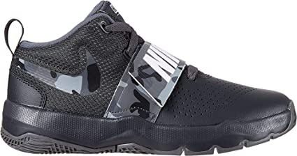 fa69e4c031f Nike Kids  Preschool Team Hustle D 8 Camo Basketball Shoes (Black Camo