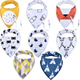 Amazon Price History for:Baby Bandana Drool Bibs, Unisex 8-Pack Gift Set for Drooling and Teething, 100% Organic Cotton, Soft and Absorbent, Hypoallergenic - for boys by ModaBebis (8 pack, boy)