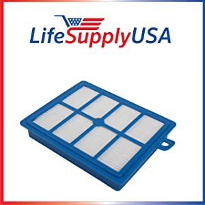 LifeSupplyUSA HEPA Filter for Electrolux Eureka H12 and Oxygen Canister EL-6985 39938-8