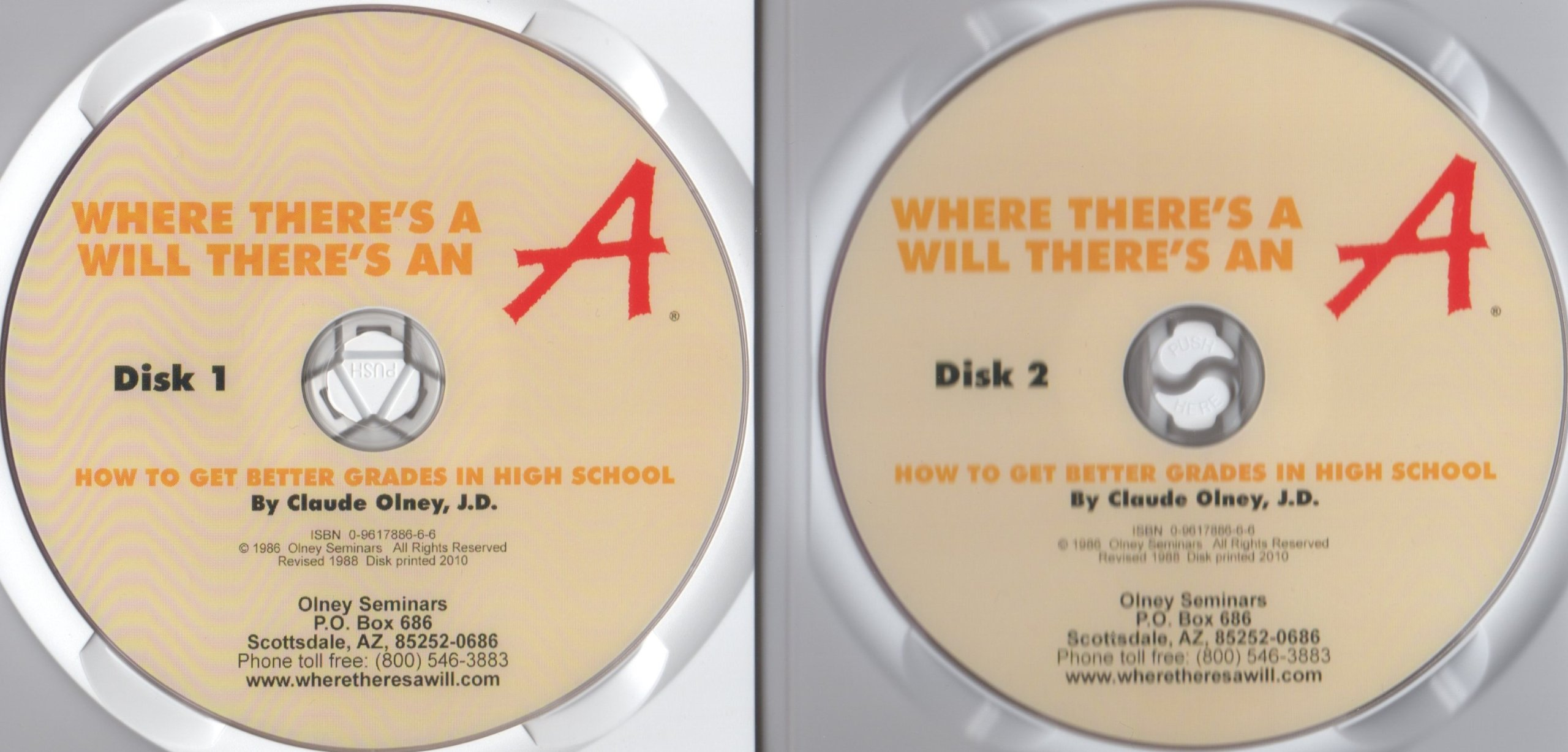 where there s a will there s an a how to get better grades in where there s a will there s an a how to get better grades in high school 2 disc dvd set seminar manual clause olney 9780961788667 amazon com books