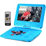 """UEME 9"""" Portable DVD Player for Kids with Car Headrest Mount Holder Swivel Screen Remote Control, Portable CD Player PD-0093 (Blue)"""