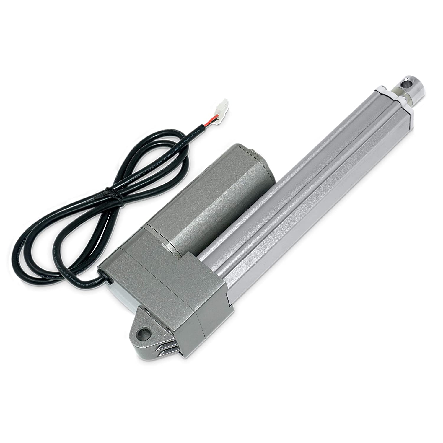 12V Industrial Linear Electric Actuator | 12 in. / 330 lbs. | Stainless Steel Rod, High Force, Brushed DC Motor, Durable Stroke| for Marine, Automation, Robotics| Model PA-09-12-330 811L-yJNOiL