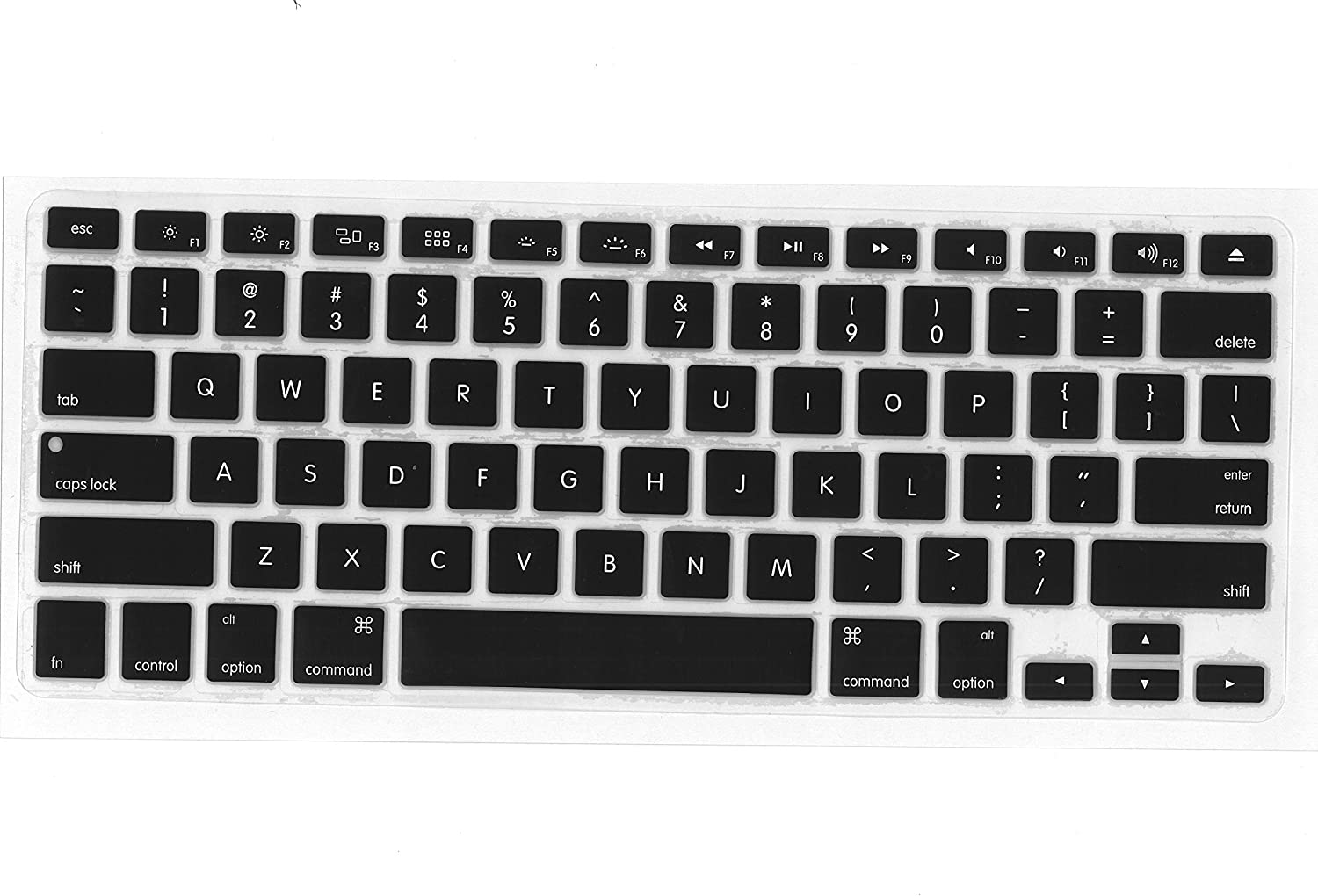 A1466//A1369, Release 2010-2017 QBS Ultra Thin Keyboard Cover Compatible 13//15 Inch with//Without Retina Display,2015 or Older Version Marble Older MacBook Air 13 Inch