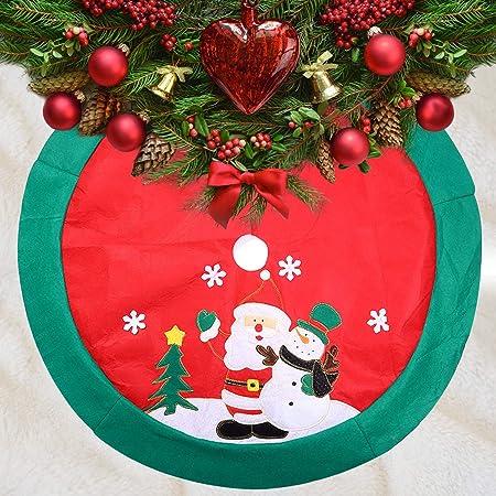 Mbuynow 100cm Falda del Árbol de Navidad de Decoración para Fiesta ...