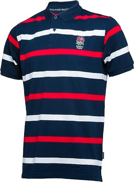 Inglaterra Rugby Camisa de Inglaterra de Rayas Polo para Hombre: Amazon.es: Ropa y accesorios