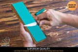 BeaverCraft LS4P1 Leather Stropping Block Kit Knife Sharpening Kit Leather Honing Strop for Sharpening Knives 8'' Long BeaverCraft Wood Carving Sharpening Strop Stropping Leather Block with Polishing