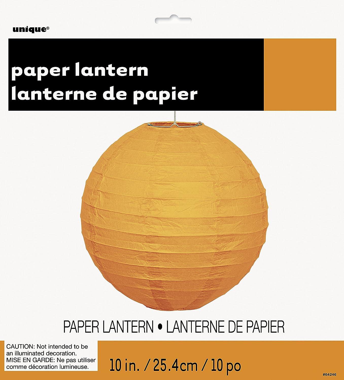 Unique Party Lanterne Ronde en Papier 64245 Rouge 25 cm